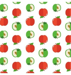 Seamless pattern with apples on the white vector