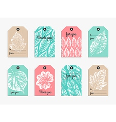 Set of cute gift tag vector image vector image
