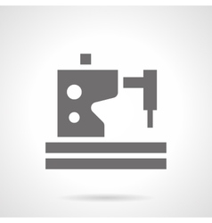 Sewing machine service glyph style icon vector image