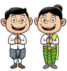 Thai kids vector image vector image