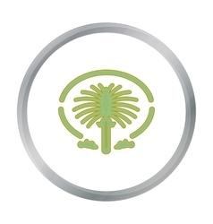 The palm jumeirah icon in cartoon style isolated vector