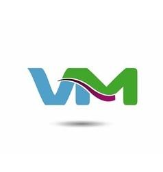 VM logo vector image vector image