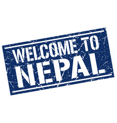 Welcome to nepal stamp vector