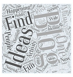 Ideas for blogging word cloud concept vector