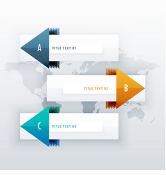 modern infographic for 3 options with arrow can vector image