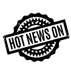 Hot news on rubber stamp vector