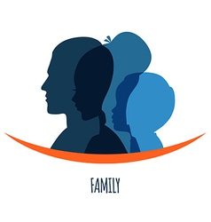 Family icons head vector