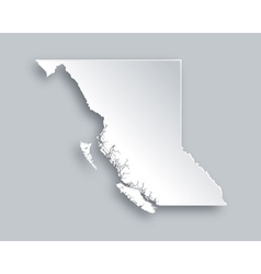 Map of british columbia vector