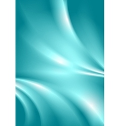 Abstract cyan blue smooth wavy background vector image