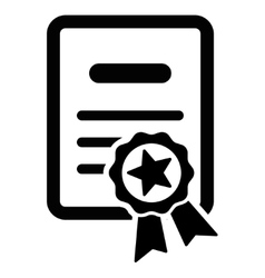 Certified diploma icon vector