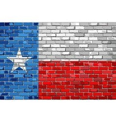 Flag of Texas on a brick wall vector image