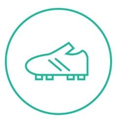 Football boot line icon vector