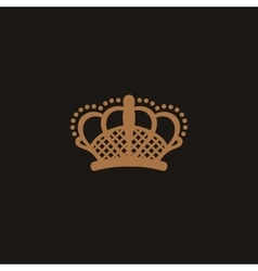 Crown logo black and beige style vector