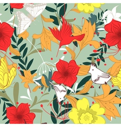 Seamless floral ornate pattern vector