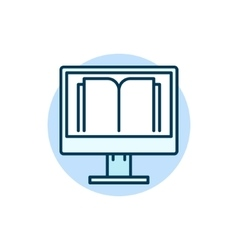 Online education flat icon vector