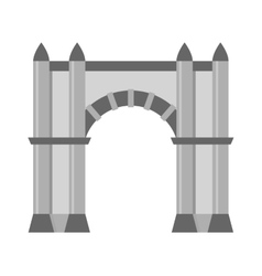 Arch icon isolated vector
