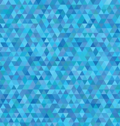 Blue triangles pattern vector