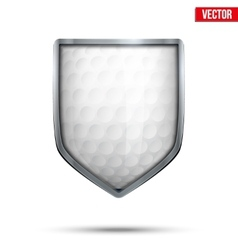 Bright shield in the golf ball inside vector