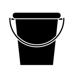 Bucket garden tool pictogram vector