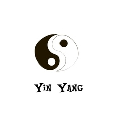 Buddhist symbol of yin yang chinese symbol vector