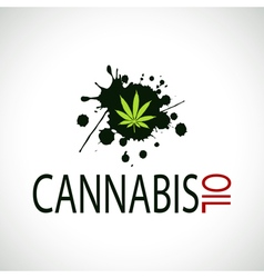 Cannabis oil-marijuana vector