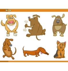 Cartoon dog characters set vector