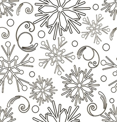 Christmas and New Year monochrome seamless pattern vector image vector image