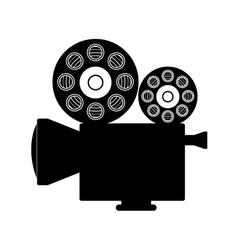 Cinema camera icon vector