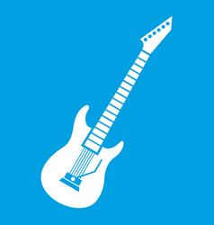 Electric guitar icon white vector
