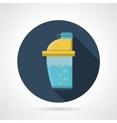 Flat color icon for supplements shaker vector