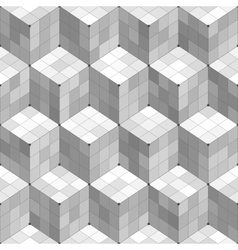 Geometric cubes seamless pattern vector