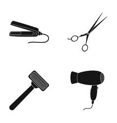 hair dryer hair straightener razor hairdresser vector image
