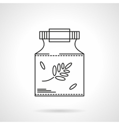 Homeopathy icon flat thin line icon vector image