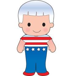 Poppy American Boy vector image vector image