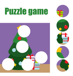 Puzzle for toddlers matching children educational vector