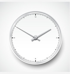 Realistic clock watch icon vector image