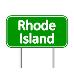 Rhode island green road sign vector