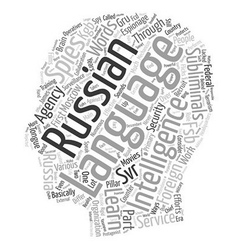 Russian spies language and subliminals text vector