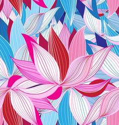 Seamless pattern beautiful pink lotus vector