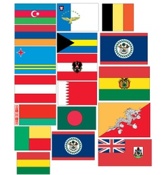 Set of flags of countries started with a and b vector