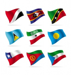 set of world flags 14 vector image vector image