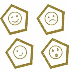 smile press vector image vector image