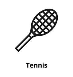 tennis line icon vector image