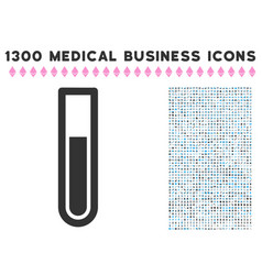 Test tube icon with 1300 medical business icons vector
