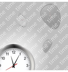 Time and clocks backgroundai vector image vector image