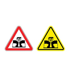 Warning sign of attention angry boss Dangers vector image vector image