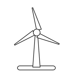Wind turbine eco freindly related icon image vector