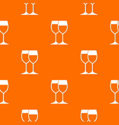 wine glasses pattern seamless vector image vector image