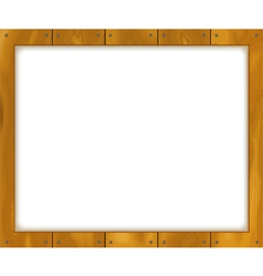 Wooden sign board vector image vector image