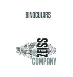 Zeiss binoculars text word cloud concept vector